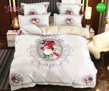 Спално бельо от 100% памук, 6 части, двулицево с код 47-13