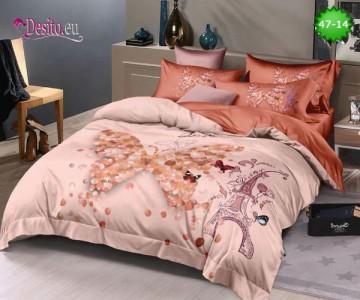 Спално бельо от 100% памук, 6 части, двулицево с код 47-14