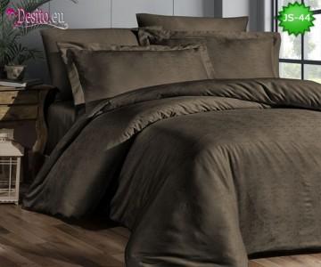 Луксозно спално бельо от памук-сатен с жакард JS-44
