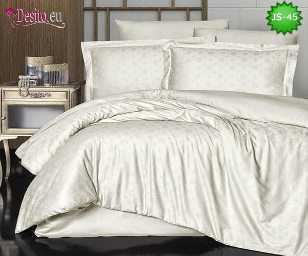 Луксозно спално бельо от памук-сатен с жакард JS-45