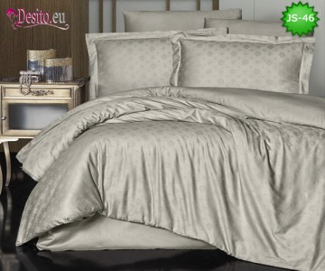 Луксозно спално бельо от памук-сатен с жакард JS-46