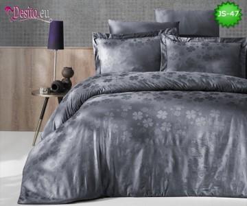 Луксозно спално бельо от памук-сатен с жакард JS-47