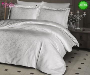 Луксозно спално бельо от памук-сатен с жакард JS-48