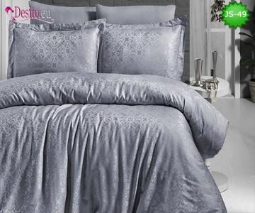 Луксозно спално бельо от памук-сатен с жакард JS-49