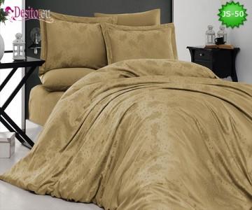 Луксозно спално бельо от памук-сатен с жакард JS-50