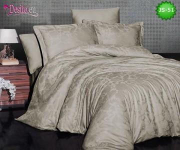 Луксозно спално бельо от памук-сатен с жакард JS-51