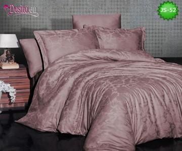 Луксозно спално бельо от памук-сатен с жакард JS-52
