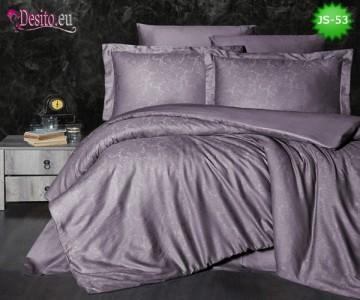 Луксозно спално бельо от памук-сатен с жакард JS-53