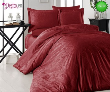 Луксозно спално бельо от памук-сатен с жакард JS-56