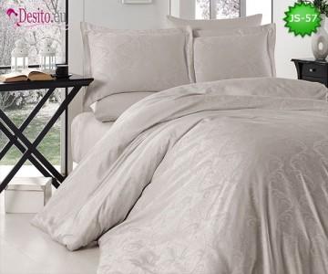 Луксозно спално бельо от памук-сатен с жакард JS-57