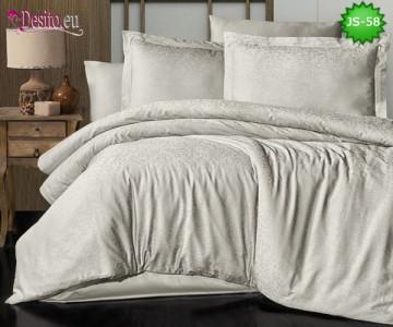 Луксозно спално бельо от памук-сатен с жакард JS-58