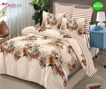 Спално бельо от 100% памук, 6 части, двулицево с код 60-335