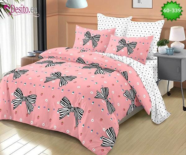 Спално бельо от 100% памук, 6 части, двулицево с код 60-339
