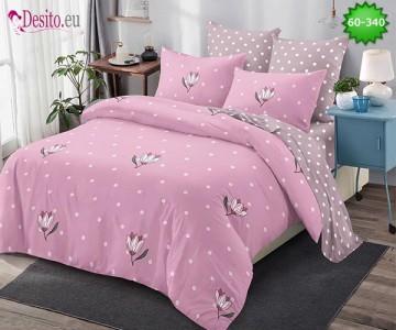 Спално бельо от 100% памук, 6 части, двулицево с код 60-340