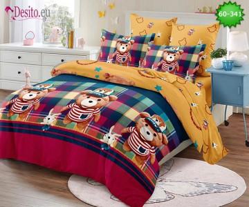 Спално бельо от 100% памук, 6 части, двулицево с код 60-341