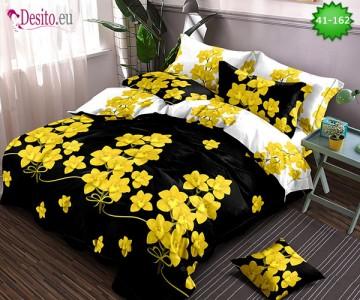 Спално бельо от 100% памук, 6 части - двулицево, с код 41-162