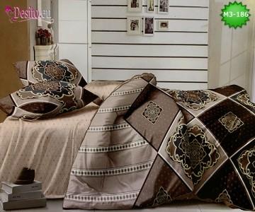 Спално бельо от 100% памук, 6 части, двулицево с код M3-186