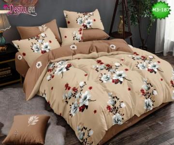 Спално бельо от 100% памук, 6 части, двулицево с код M3-187