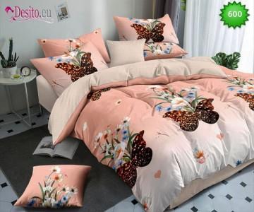 Спално бельо от 100% памук, 6 части, двулицево с код 600