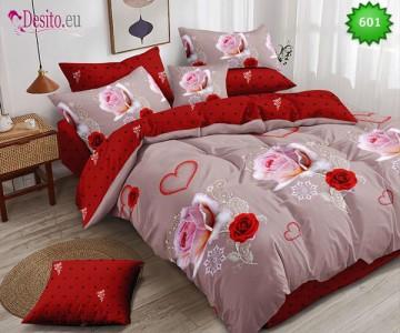 Спално бельо от 100% памук, 6 части, двулицево с код 601