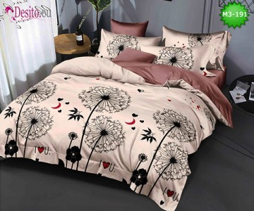 Спално бельо от 100% памук, 6 части, двулицево с код M3-191