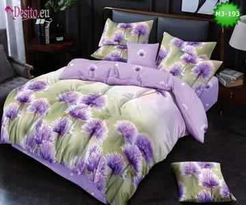 Спално бельо от 100% памук, 6 части, двулицево с код M3-193