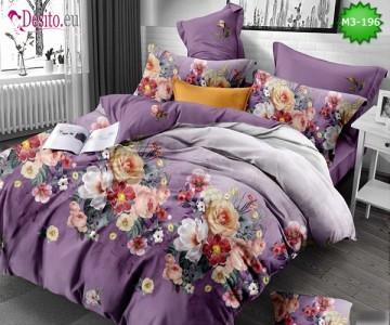 Спално бельо от 100% памук, 6 части, двулицево с код M3-196