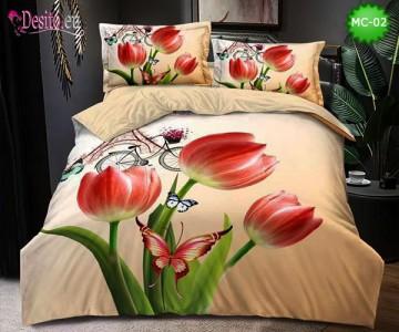 Спално бельо от 100% памук, 6 части, двулицево с код MC-02