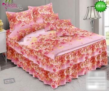 Спално бельо от 100% памук, 6 части, с код C8-01