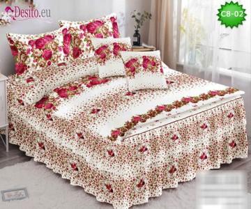 Спално бельо от 100% памук, 6 части, с код C8-02