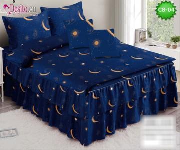 Спално бельо от 100% памук, 6 части, с код C8-04