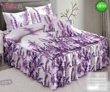 Спално бельо от 100% памук, 6 части, с код C8-05