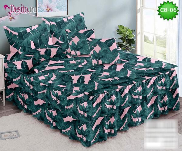 Спално бельо от 100% памук, 6 части, с код C8-06