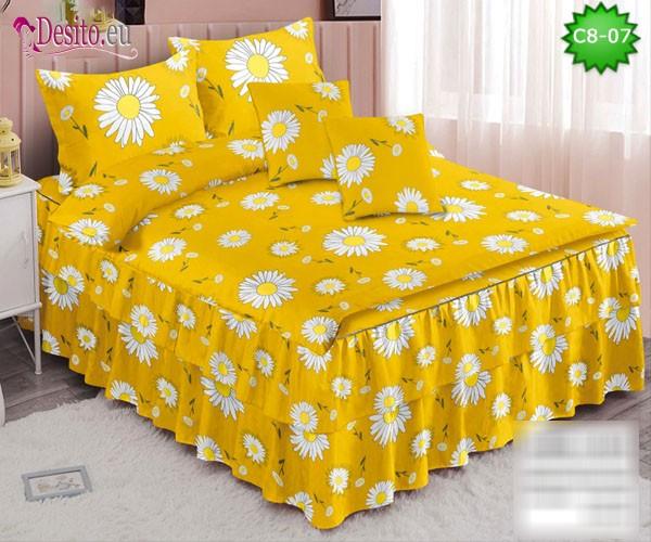 Спално бельо от 100% памук, 6 части, с код C8-07