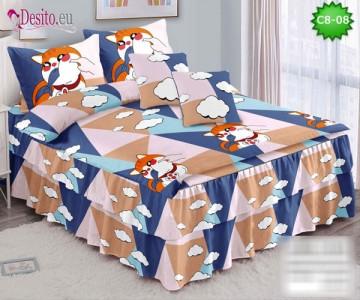 Спално бельо от 100% памук, 6 части, с код C8-08
