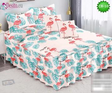 Спално бельо от 100% памук, 6 части, с код C8-10