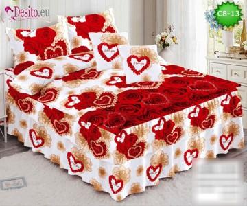 Спално бельо от 100% памук, 6 части, с код C8-13