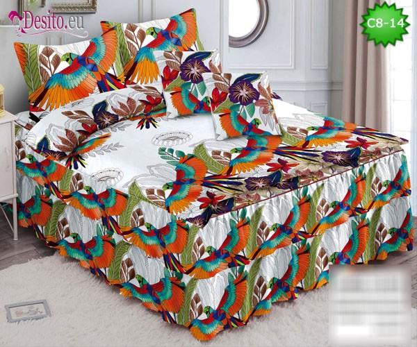 Спално бельо от 100% памук, 6 части, с код C8-14