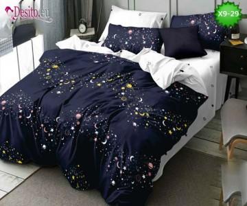 Спално бельо от 100% памук, 6 части - двулицево, с код X9-29