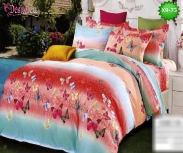 Спално бельо от 100% памук, 6 части - двулицево, с код X9-73