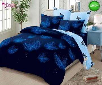 Спално бельо от 100% памук, 6 части - двулицево, с код X9-74