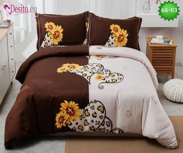 Спално бельо от 100% памук, 4 части с код 66-03