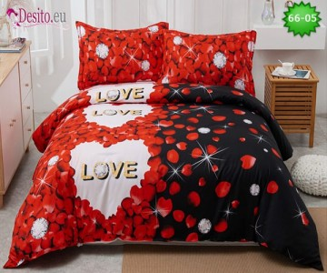 Спално бельо от 100% памук, 4 части с код 66-05