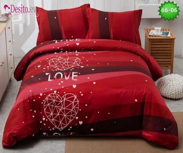 Спално бельо от 100% памук, 4 части с код 66-06