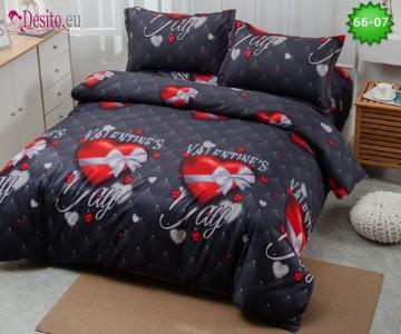Спално бельо от 100% памук, 4 части с код 66-07