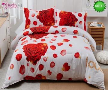 Спално бельо от 100% памук, 4 части с код 66-13