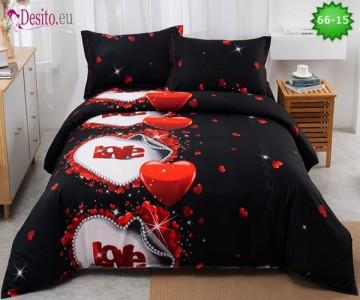 Спално бельо от 100% памук, 4 части с код 66-15