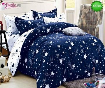 Спално бельо от 100% памук, 6 части и чаршаф с ластик с код X5-06