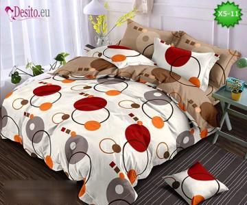 Спално бельо от 100% памук, 6 части и чаршаф с ластик с код X5-11
