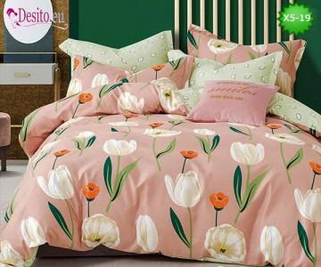 Спално бельо от 100% памук, 6 части и чаршаф с ластик с код X5-19